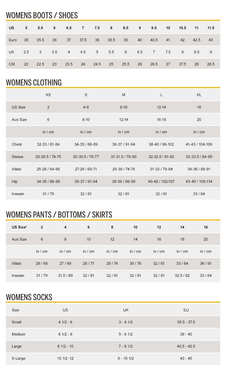 Size chart cat footwear men women nvjuhfo Choice Image
